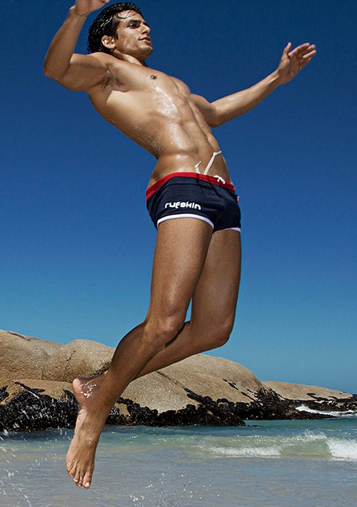 how to cut the netting out of swim trunks