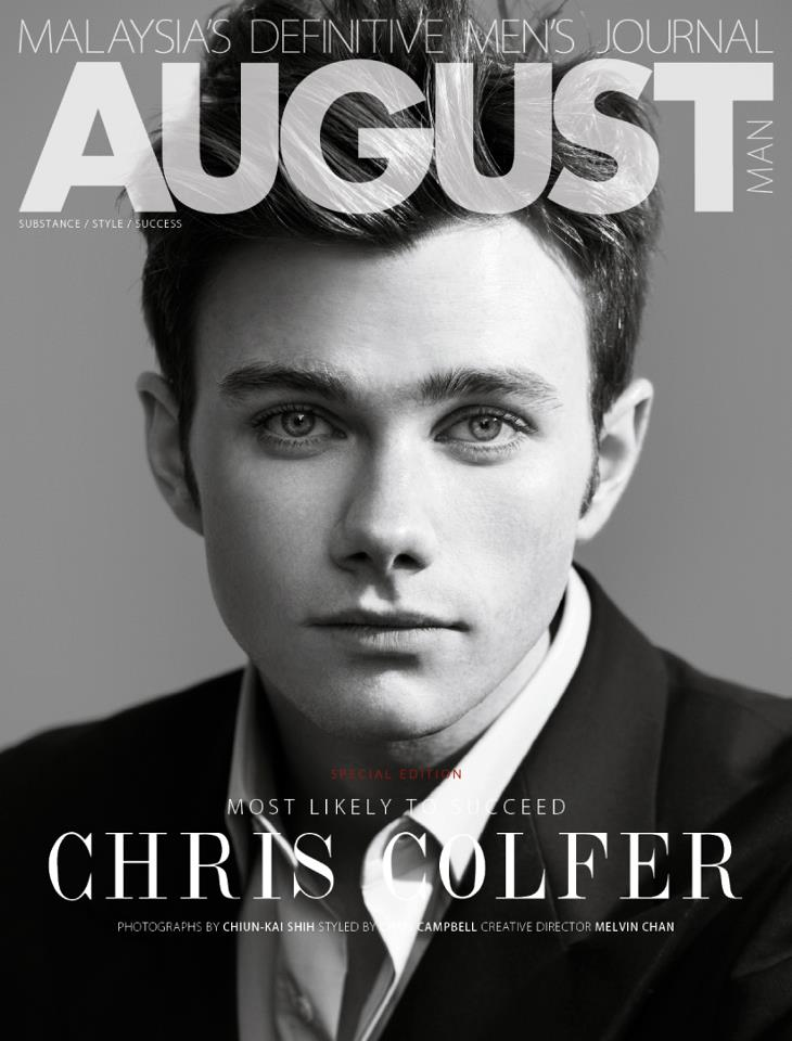 Chris Colfer for AUGUST Man