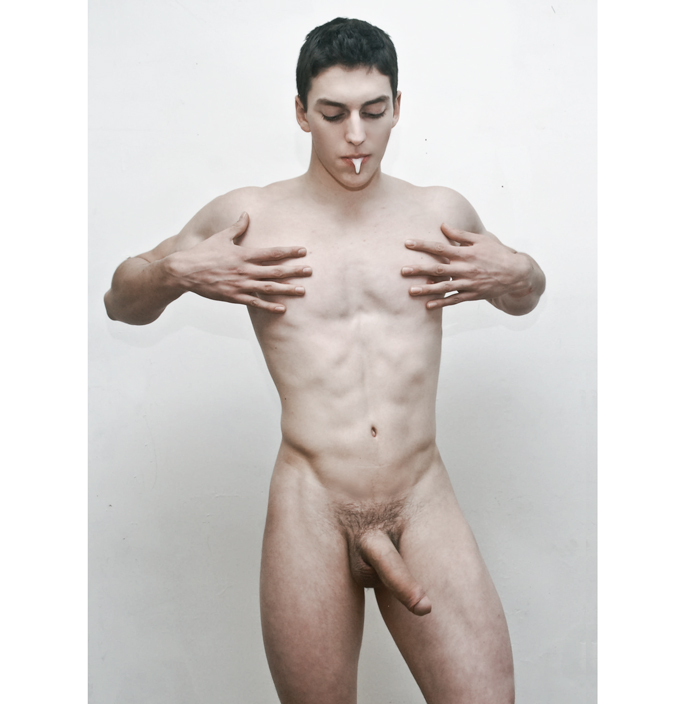 Naked man in photography