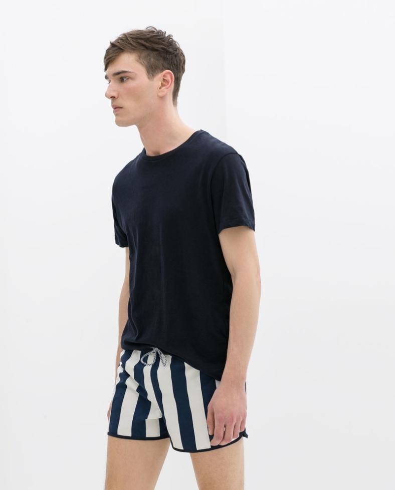 Zara Men S Swim Trunks Fashionably Male Photography