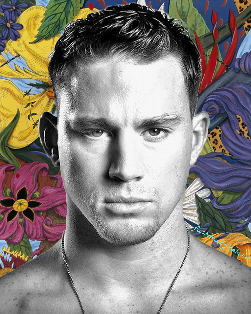 Favorited Male Actor Channing Tatum edited and graphics background by Fashionably Male