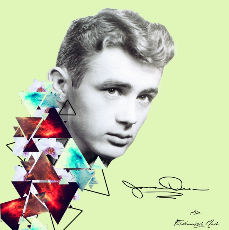 Blast From The Blas Hollywood Icon James Dean Artwork by Fashionably Male