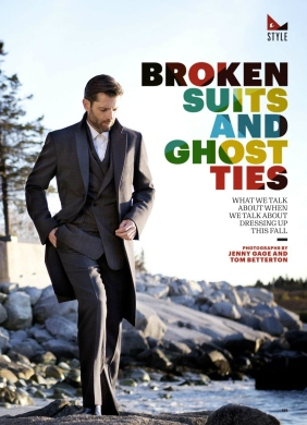 'BROKEN SUITS AND GHOST TIES' Ph: Jenny Gage & Tom Betterton