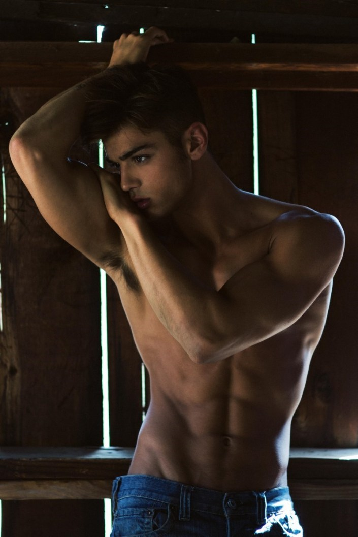 A stellar great outdoors story masterfully captured by photographer Carlos Moscat starring gorgeous American up-and-comer Scott Gardner at 'Next Models'.