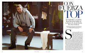 From football player to model, Brad Kroenig speaks in an exclusive to VOGUE Hombre. By José Forteza. Photography by Michael Schwartz and styled by Andre Mukamal.