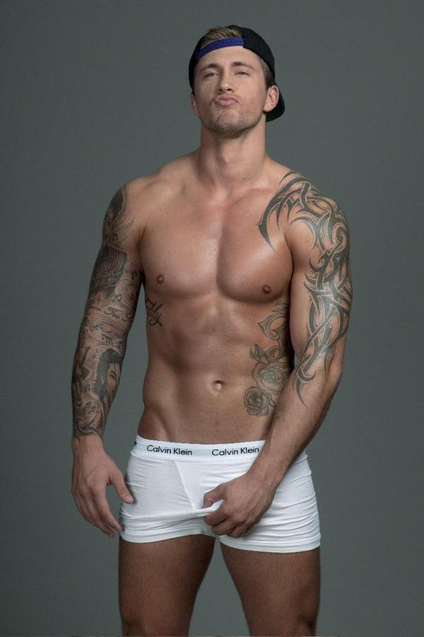 "Gorgeous British personality Dan Osborne shows why he's a favourite TV hunk as he puts his fit buff bod on display for The Sun's ""Feel 'Em Friday"" campaign."