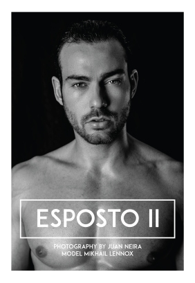 Returning to our screens, here is the recent work of photographer Juan Neira who presented their work Esposto II with model Mikhail Lennox who poses with a grace and safety, using his toned body as a tool and taking control of it to give the best of himself.