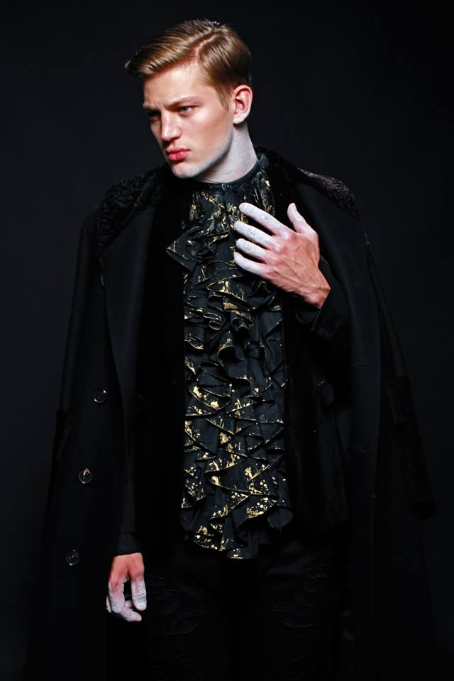 Fallen Angel by Livia Alcalde stars Top Model Sebastian Sauve for L'Officiel Hommes Greece