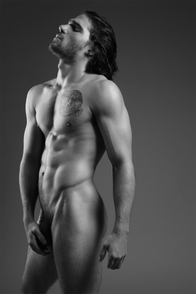 Long Male Nude Art Model-6720