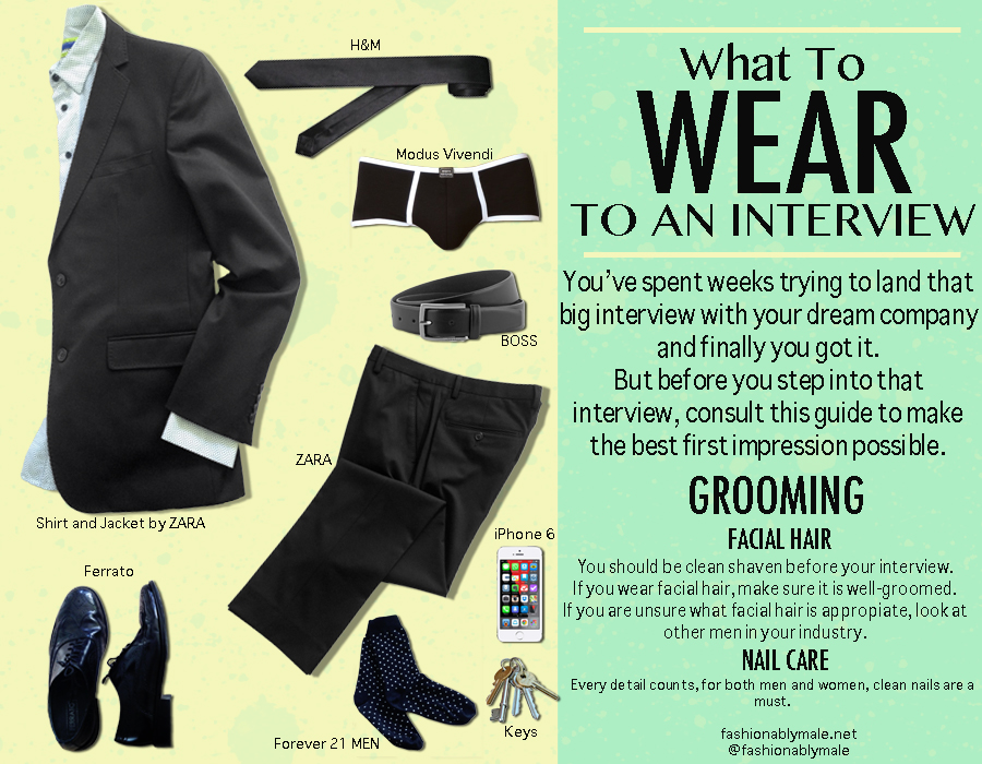 What to wear to a job interview retail