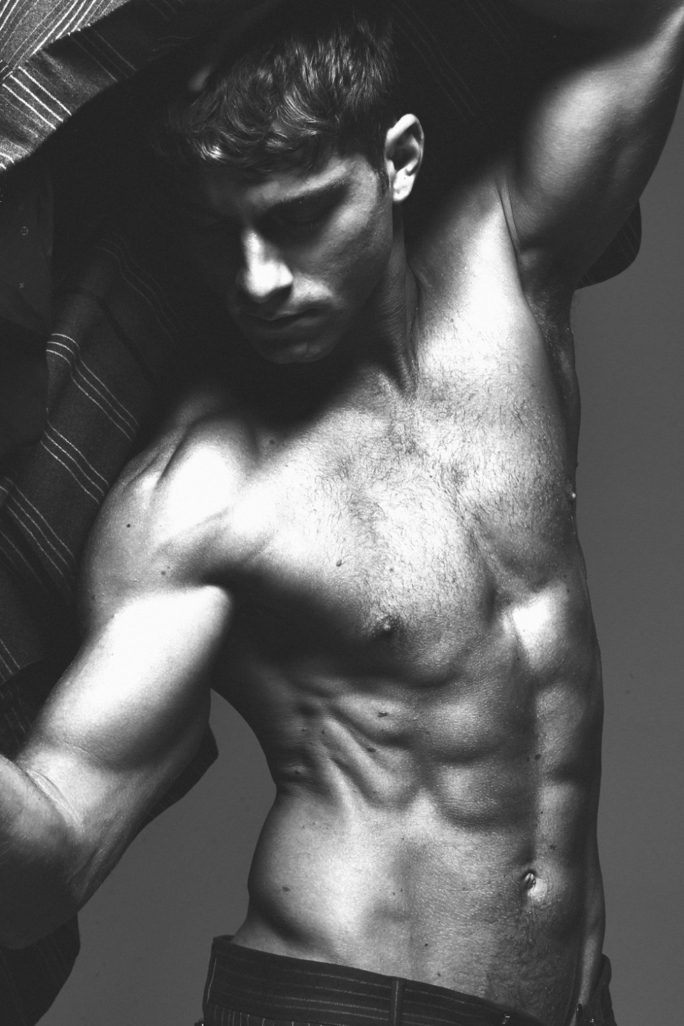 Dashing model Andre Ziehe at Ford Models posing for a splendid new studio set by photographer Mathew Guido.