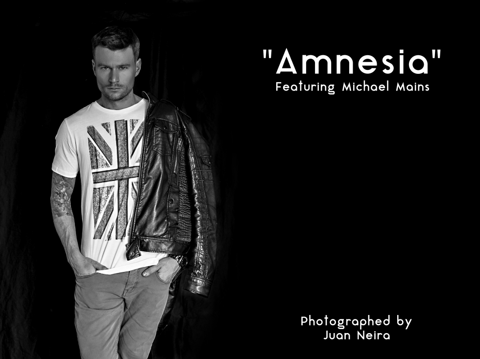 "He is an amazing model from Toronto. Michael Mains is another of the faces of The Toronto Men Fashion Week (TOM*). This story is called ""Amnesia."" Photographed and Styled by me."