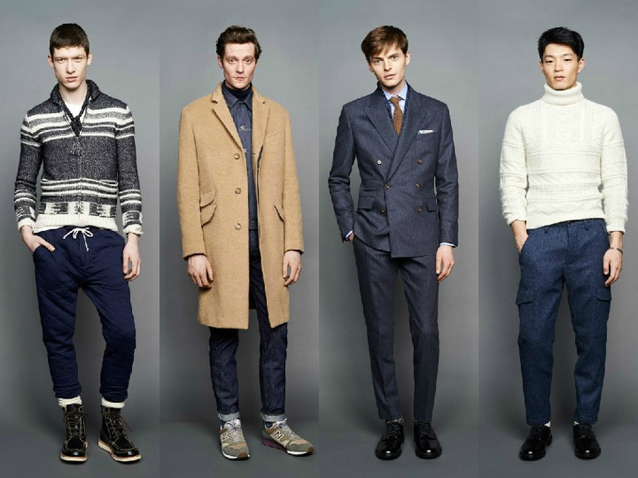 "For men, Frank Muytjens' trip to a vintage Army/Navy show in the south of England made a reappearance in the retailer's fall offerings. From a color palette heavy on green and khaki to the military details on the A-line, drop-shoulder topcoats, the J. Crew men's design director ""intertwined"" this feeling throughout the lineup. Standout pieces included thick wool cargoes in a slim fit with an articulated knee, and a snorkel coat that Muytjens tweaked to make its proportion more oversize."