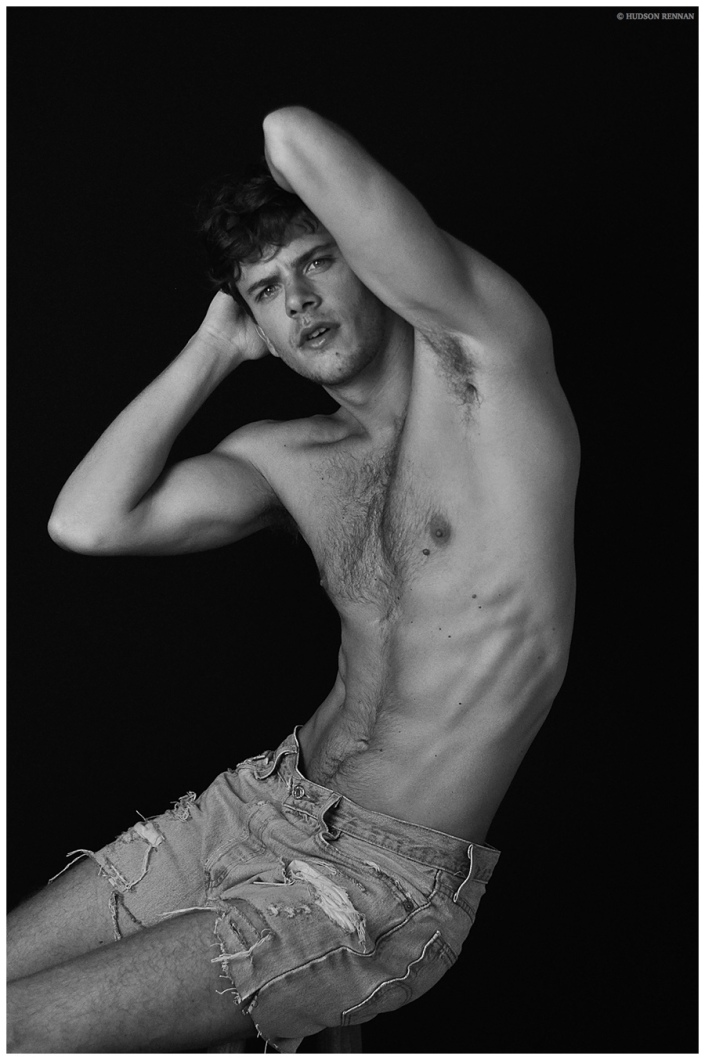 An eye-catching new session by photographer Hudson Rennan featuring 'Way Management's current star Ricardo Figueiredo modelling in denim and leather fashion.