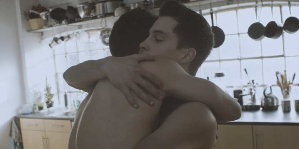 """It's based on them being friends, exploring the intimacy of physical interaction between guys; of their 'bromance,'"" says Nilsson of dancers Beren D'Amico, Charlie Wheeller and Louis Gift from the experimental acrobatic company, Barely Methodical Troupe, which won the Total Theatre Award at Edinburgh 2014 for its live performance or Bromance. ""The concept of the film was to set something unusual in the real world, almost a documentary in the most abstract of senses."""