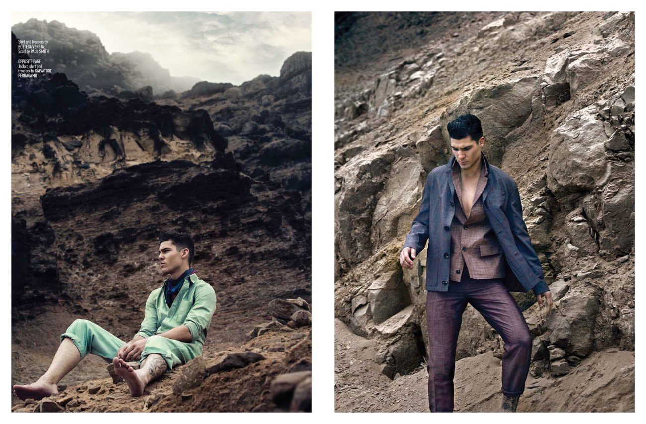 And here we have another blast fashion story by talented Karl Simone for August Man Malaysia, shot on location in Lima, Peru starring by male model Chris Petersen, styled by Fleur Huynh Evans and produced by Giorgio Ammirable.
