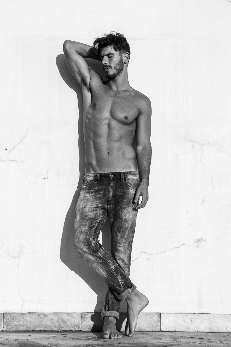 Popular Brazilian sensation he's Lucas Bernardini at Ford Models Brazil now getting an updated by lensman Jeff Segenreich.