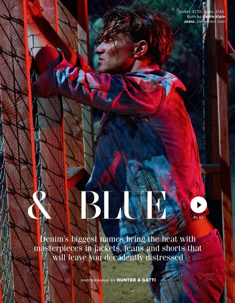 GQ UK April 2015 & Blue Photographer: Hunter & Gatti. Stylist: Jo Levin. Hair: Paco. Makeup: Jo Baker.