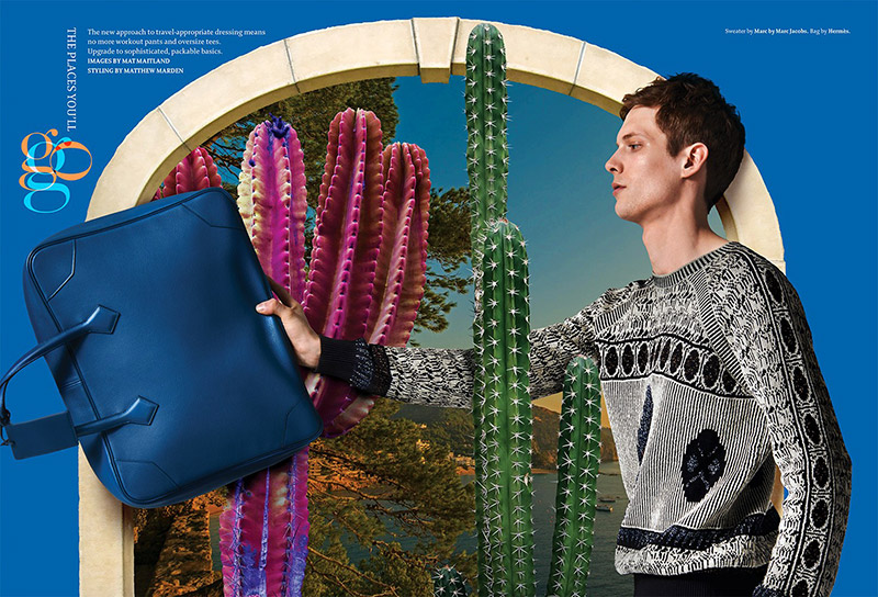 Models Felix Gesnouin and Janis Ancens captured by Nicholas Prakas and styled by Matthew Marden, for the April issue of Details magazine.