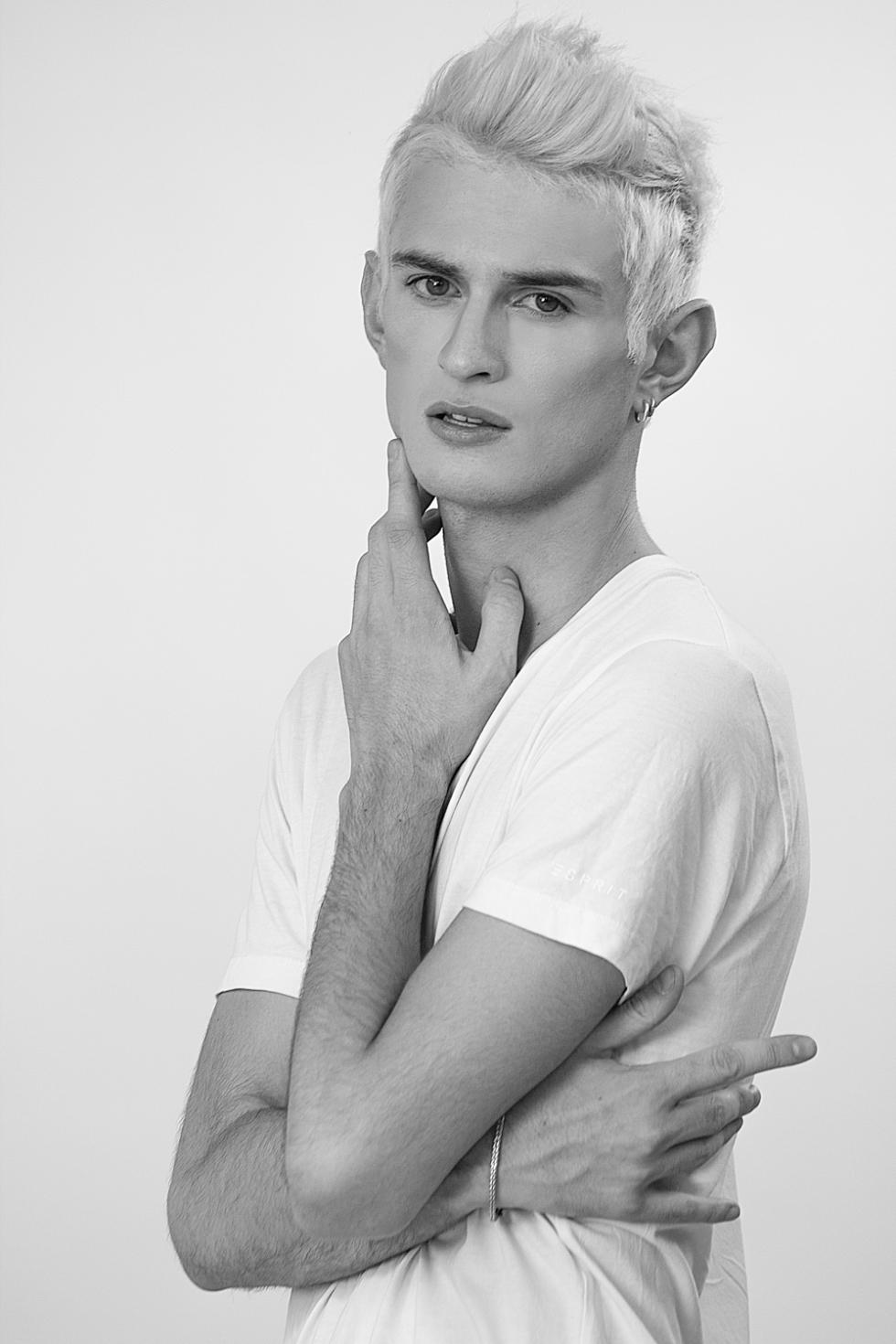 Test shoot with new face Adrian Nemi, shot by Chilean Photographer René de la Cruz. Make up & Hair: Tobias Sevilla