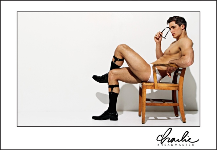 Charlie by Matthew Zink can't get enough of Hot Teacher model Pietro Boselli (Models1) and obviously the internet can't either. Charlie unveils more images from its newest campaign featuring the Italian model. Highlighting its most recent underwear styles, Charlie captures Pietro as a scandalous teacher, posing for racy images in a smart pair of black framed glasses.