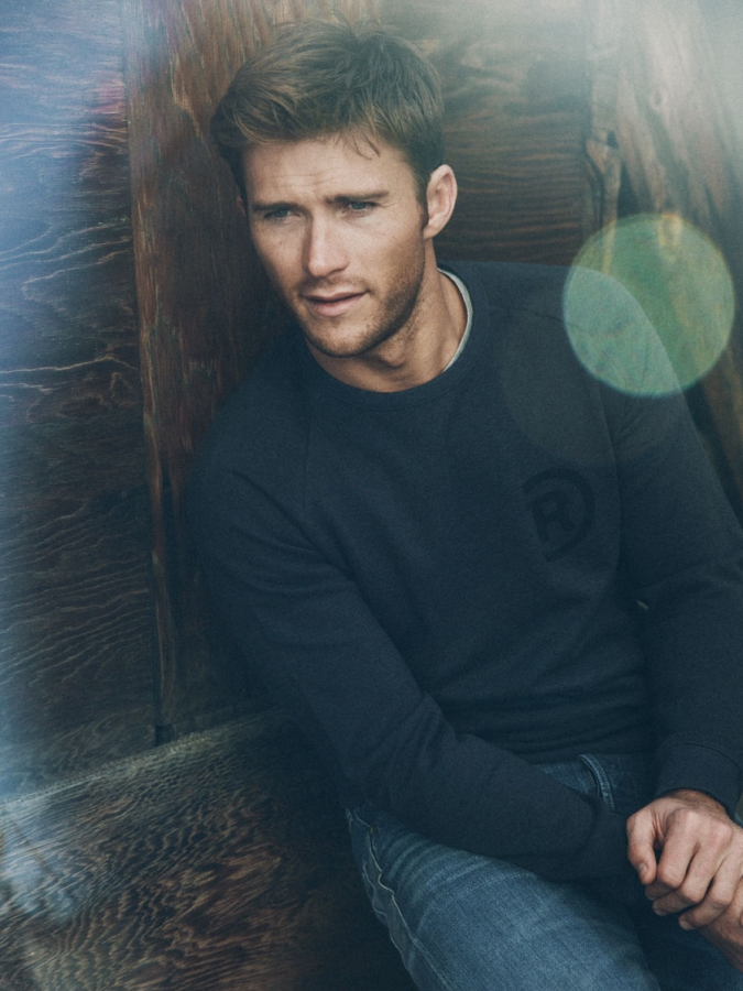 The dashing son of Clint Eastwood, Scott, reminds you how handsome he can be inthe latest issue of 'Nylon'. Eastwood currently stars in 'The Longest Ride' playing a bull rider. Watch trailer after the gallery.