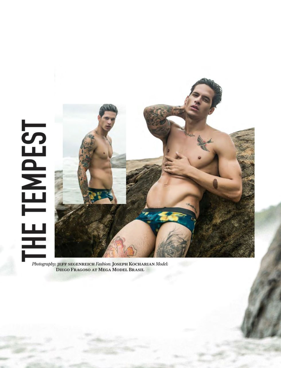 "Model Diego Fragoso at Mega Models Brasil for Attitude - June 2015 ""The Tempest"" Photography: Jeff Segenreich. Fashion: Joseph Kocharian"