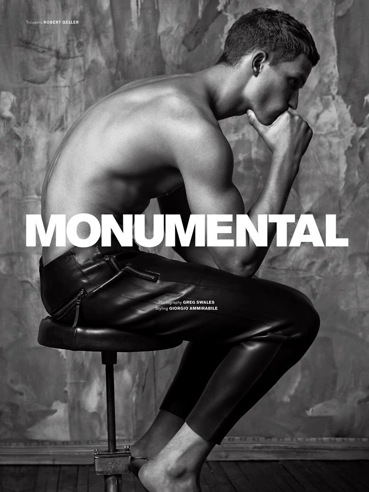 "Archetype presents a high fashion editorial entitled ""Monumental"" captured by Greg Swales and styled by Giorgio Ammirabile."