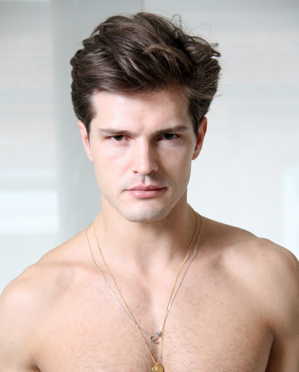 Ranked the sexiest male model at models.com Diego Miguel is beyond that. Here's fresh face at Wilhelmina Models.