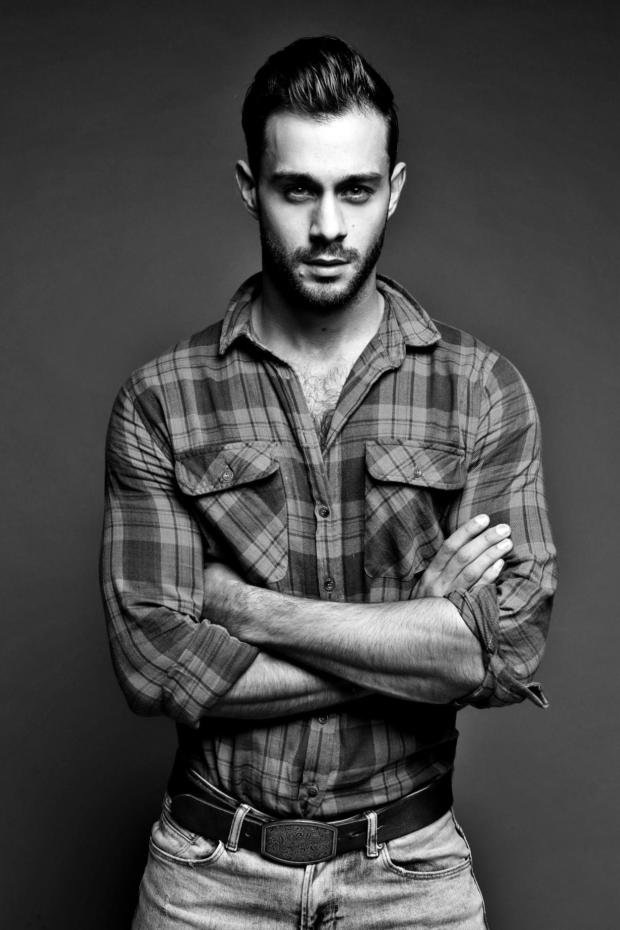 Ravishing male model Adam Phillips at Attitude models posing in splendid new shots captured by Arron Dunworth.