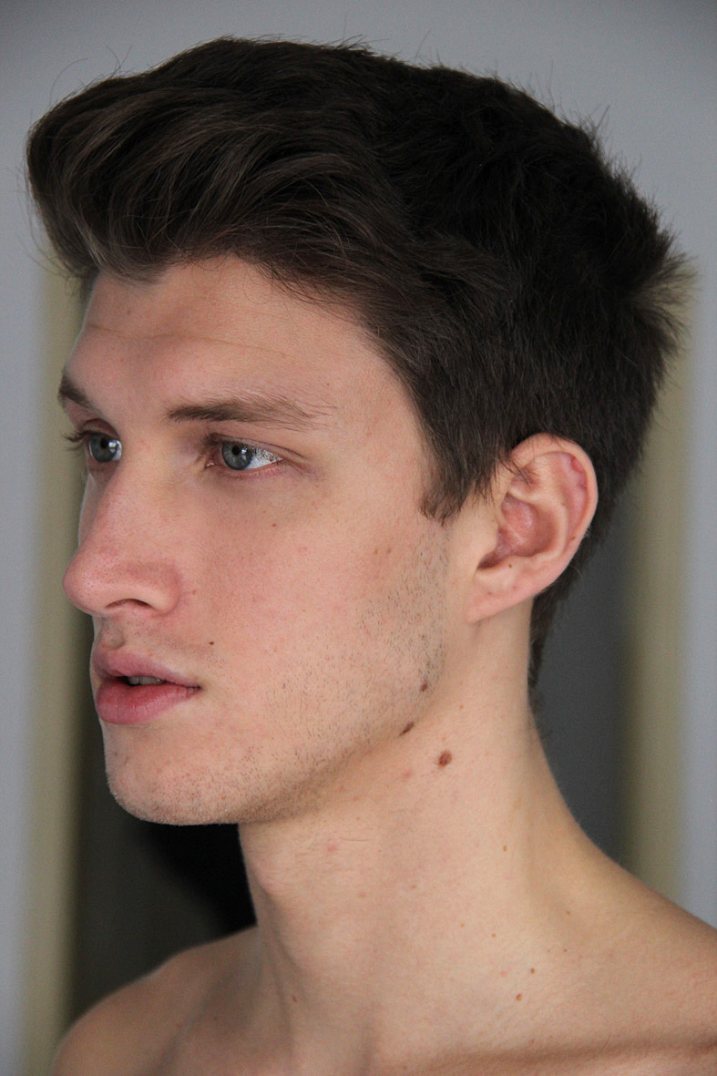 how to get a male model face structure