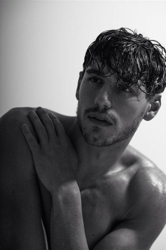 Portraits by Charl Marais capturing the very natural sense of top model Mariano Ontañón.