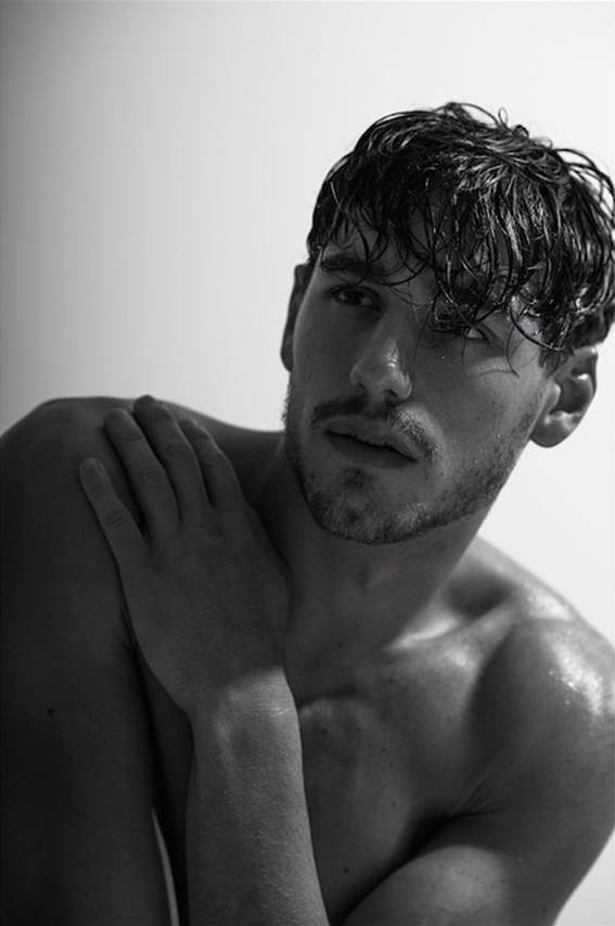 Portraits by Charl Marais capturing the very natural sense of top model Mariano Ontañón.