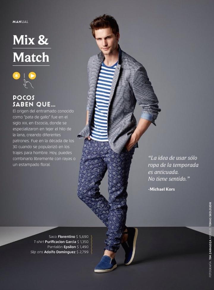 Tomas Skoloudik Models Summer Trends For El Libro Amarillo