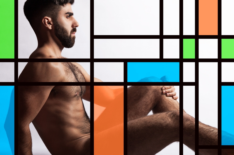 Armando was Mr Gay France 2013. Series snapped by Mateo Armand inspired by Mondiran's artwork, now we can see why Armando wins Mr Gay, he's so hot and beautiful.