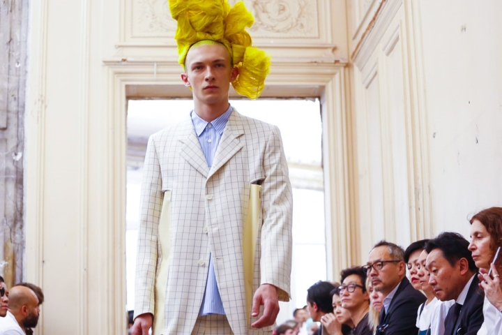 Comme des Garçons Fashion Show, Menswear Collection Spring Summer 2016 in Milan
