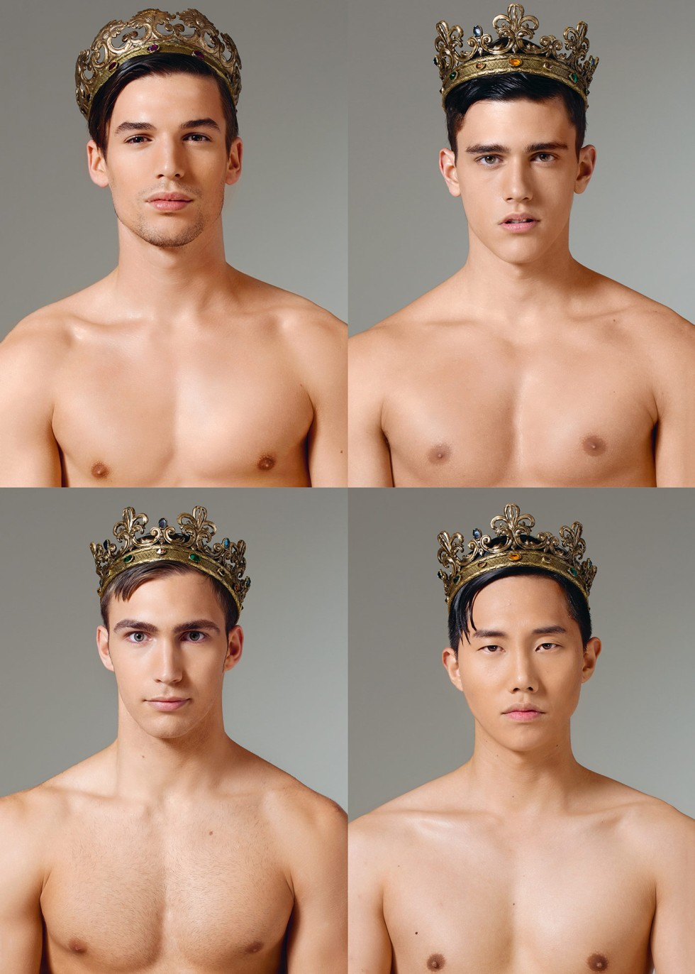 Crowns have long been a heraldic symbol of royalty, courage and power and along with the industrious, loyal and kind icon of the bee, these two emblems have been unified and adopted as a leitmotif of the Dolce&Gabbana in the Fall Winter 2015-16 menswear collection. ‪#‎DGmen‬ Discover the collection http://bit.ly/1eFAYCj