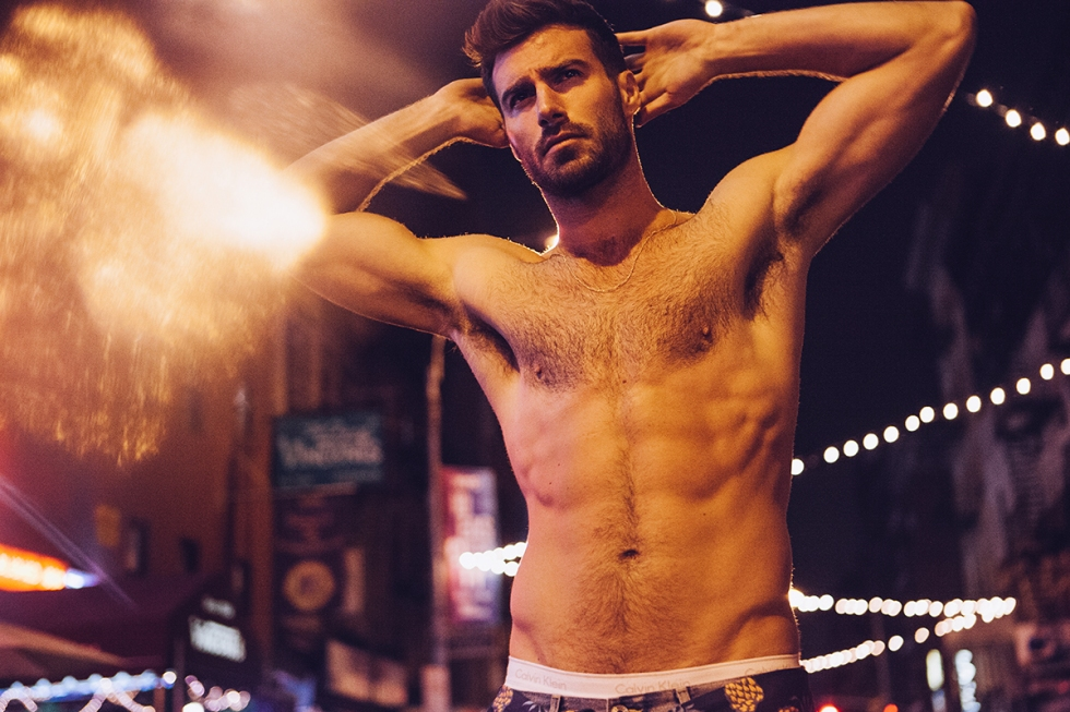 This is absolutely obsessive, the new Nocturnes series by photographer Erik Carter with stunning male model Justin Clynes at Wilhelmina Models.