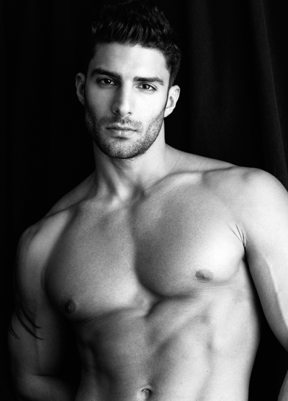 The sexy American model Adam Ayash hits our screens with this ravishing portrait by Greg Vaughan.