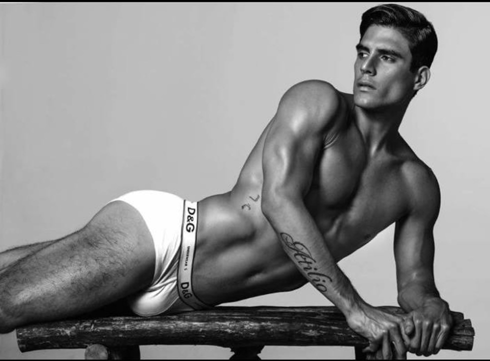 Preview work with stunning male model Atilio La Madrid posing for the lens of Wong Sim.