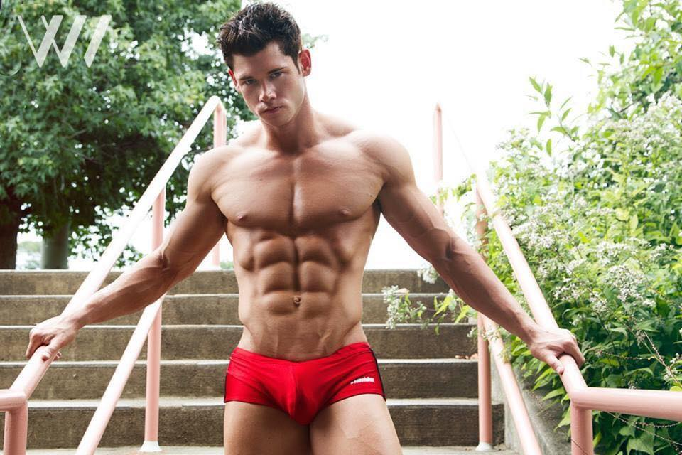 Fitness Pro model the gorgeous Brian Lewis hypnotized us with new captures by Wainwright Images.