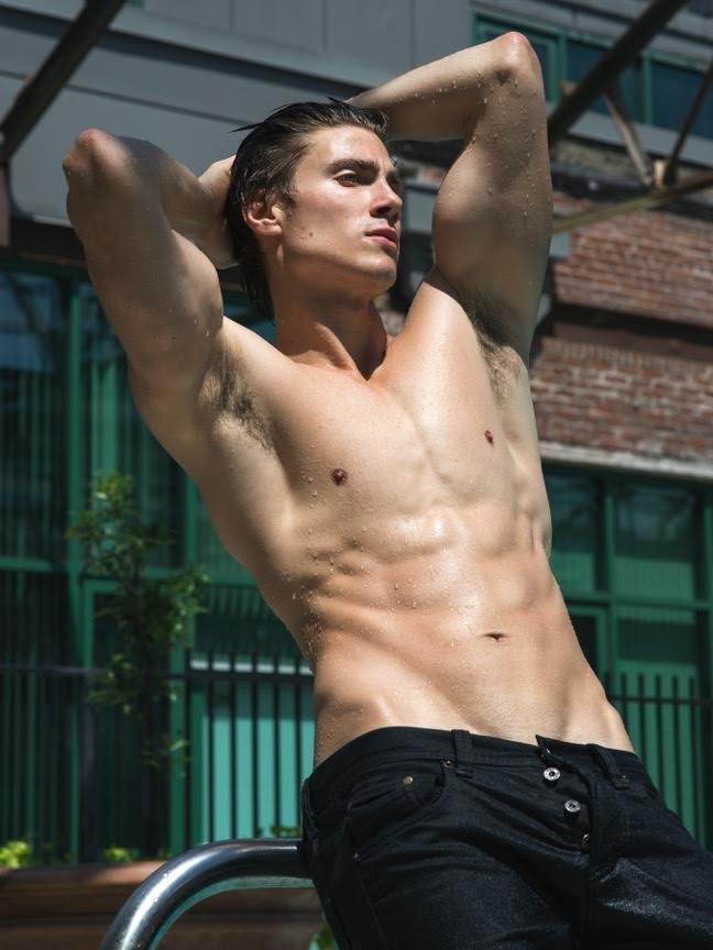 The stunning Dorian Reeves goes poolside for a radiant new session by talented photographer Scott Hoover.