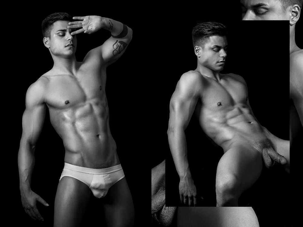 male nude professional photography model