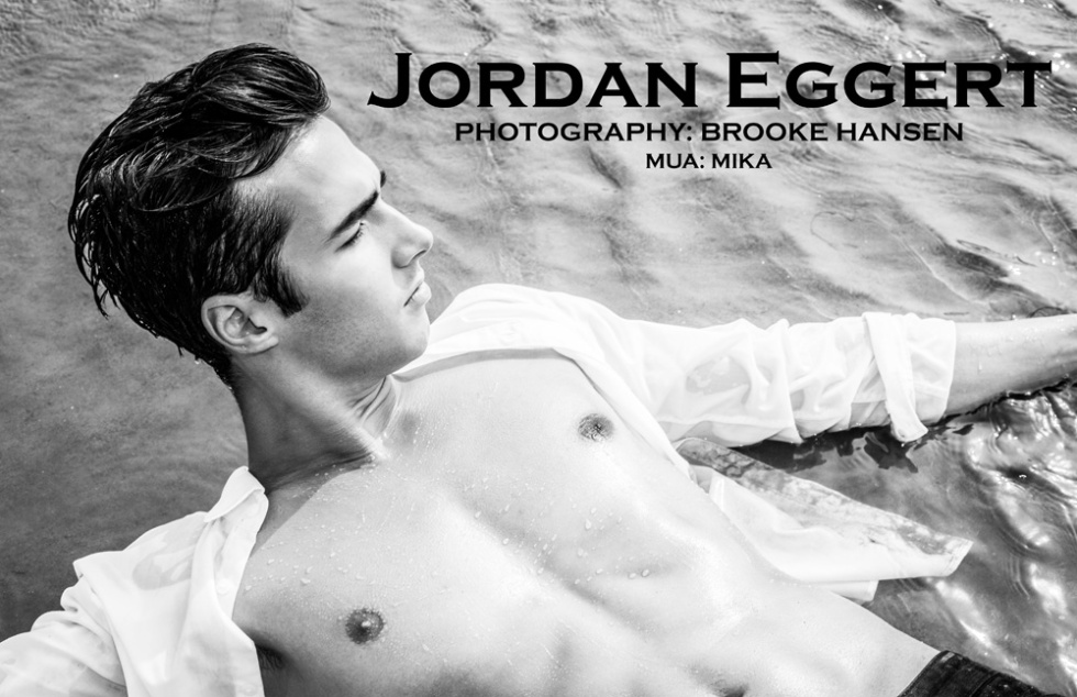Meet newcomer Jordan Eggert shows off his body while frolicking on the beach snapped by Brooke Hansen.