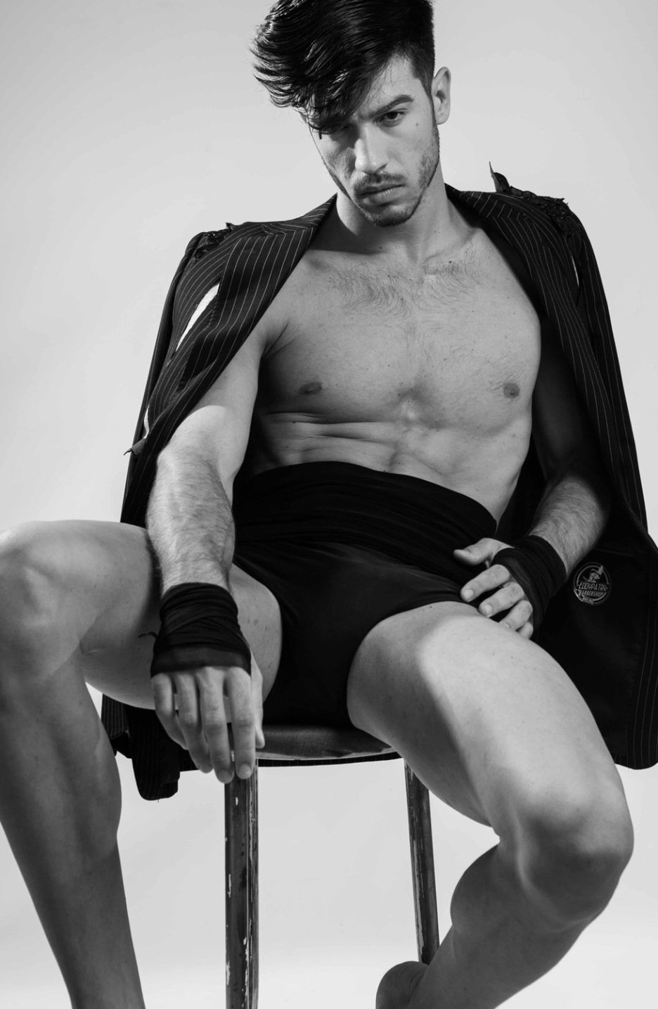Spanish photographer Jose Martinez teams up with stylist Antonio Bordera to shot with stunning new face Andrea Marzullo, focusing in a jacket to cut off to styled him in so many ways, Andrea gives a very good  job posing around while Jose Martinez captured in every single movement.
