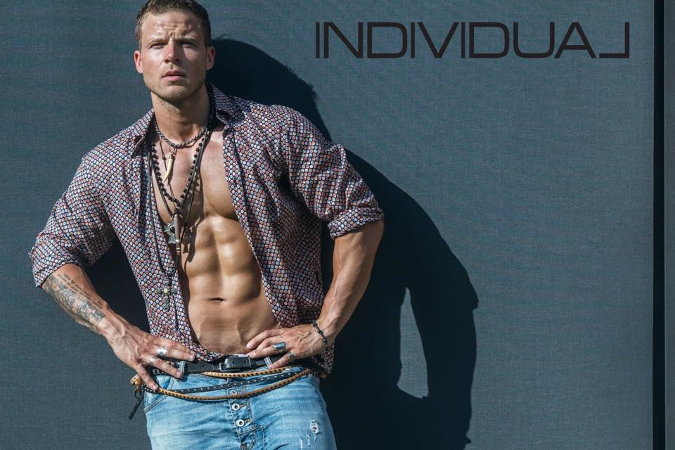 New promotional shots with stunning hunk male model Rade Lazic for SBS Individual by Bata Spasojevic Summer 2015.