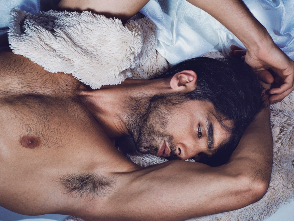 Featuring Spanish male model Randy Martos in the new work by photographer f4ever.es styled by Antonio Bordera.