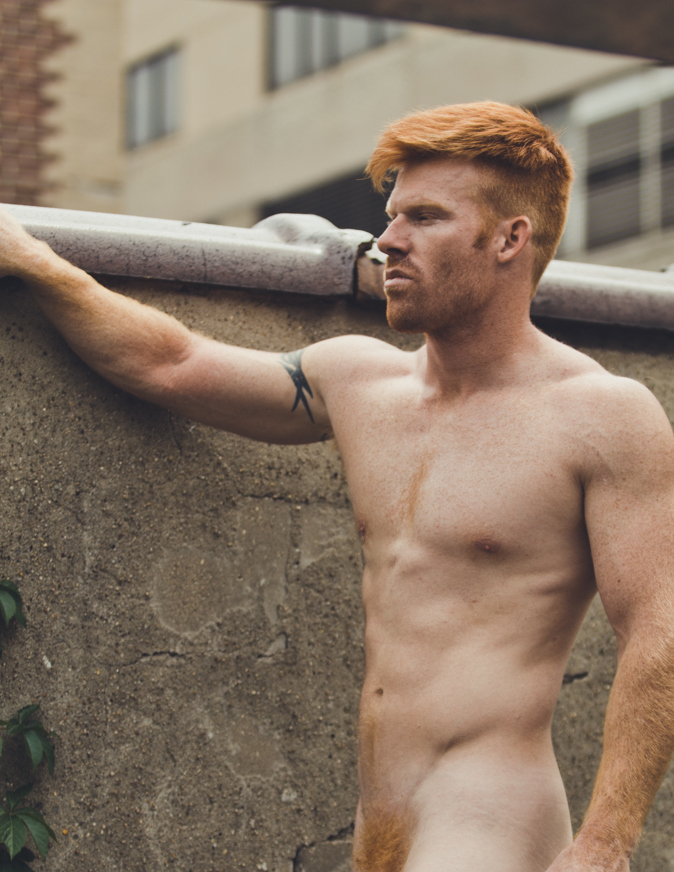 Ready to hit NYC streets we have ginger rebel male model Ryan White shot by Photographer HardCiderNY by Menelik Puryear and styled by Kai Jankovic.