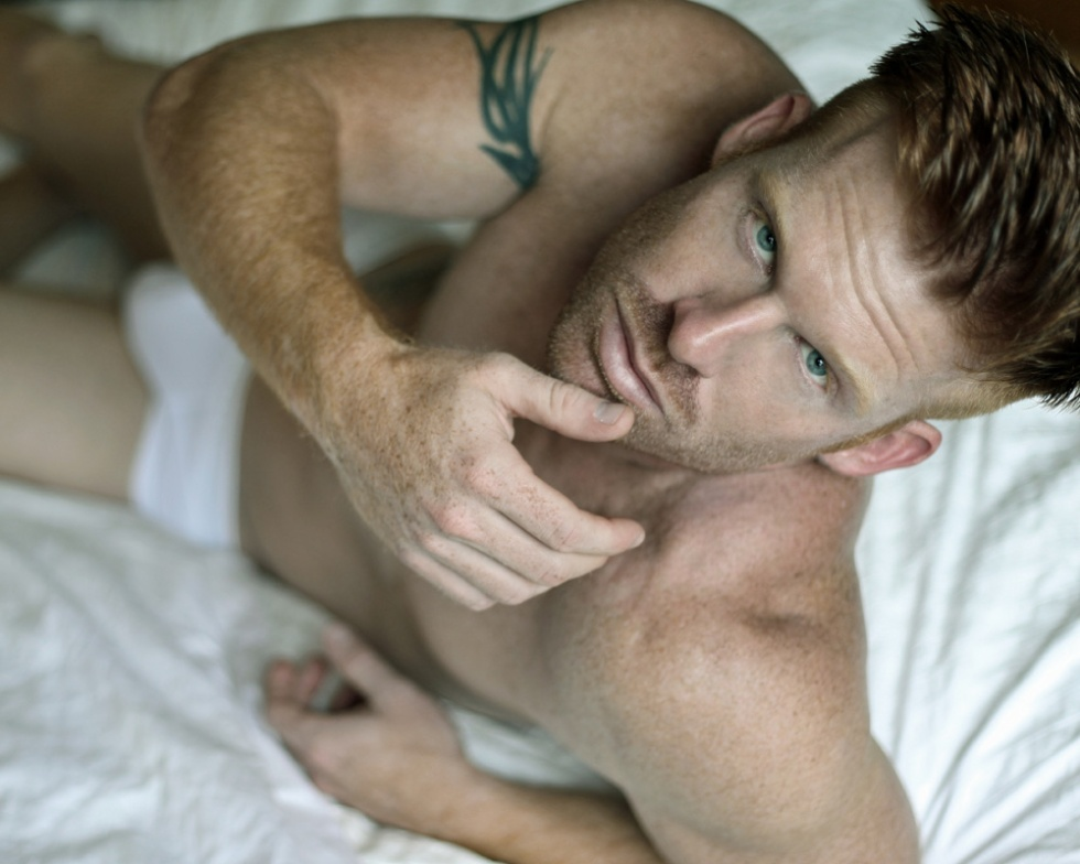 The stunning Ryan White posing for an intimate new session by talented photographer Thomas Synnamon.