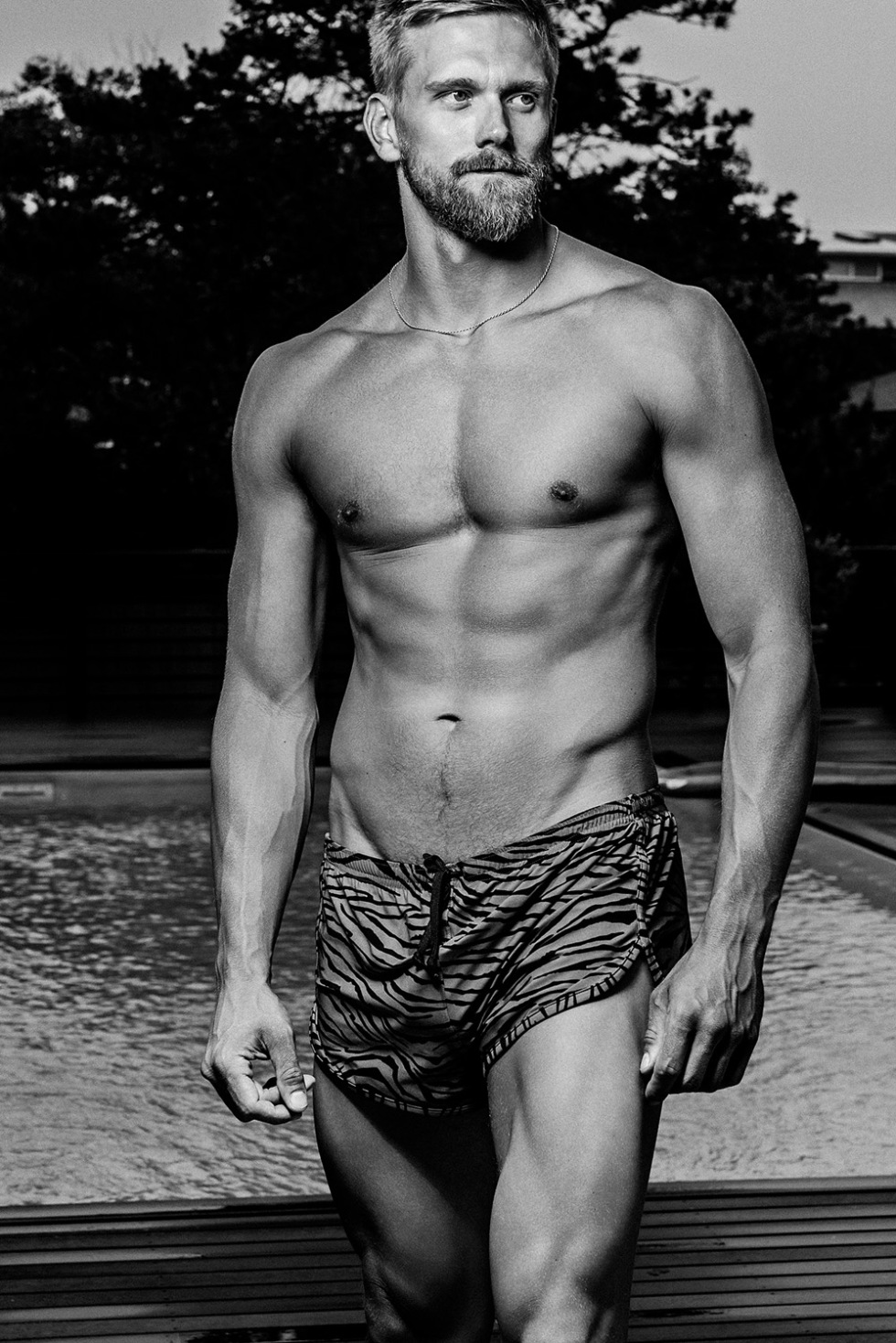 Prolific photographer talented Kamera Addikt beautifully captures the handsome adonis Adam Perry out of the pool, Happy Hump Day!